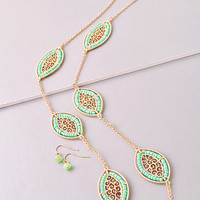 Mint Long Necklace
