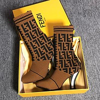 Fendi coloured fabric and ankle boots-1