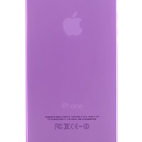 Purple Frosted Transparent Soft Case for iPhone 5 & 5s