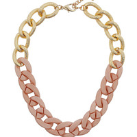Textured Half Pink Chain - New In This Week - New In - Topshop