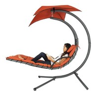 Hanging Chaise Lounger Chair Arc Stand Air Porch Swing Hammock Chair Canopy - Walmart.com