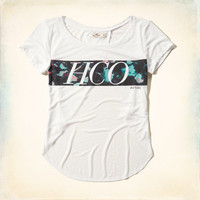Active Off the Shoulder Graphic Tee
