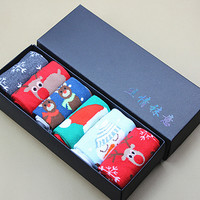 Fashion new 100% cotton women female Christmas gift socks winter autumn sock with Santa,deer,snowman 6 pairs/giftbox