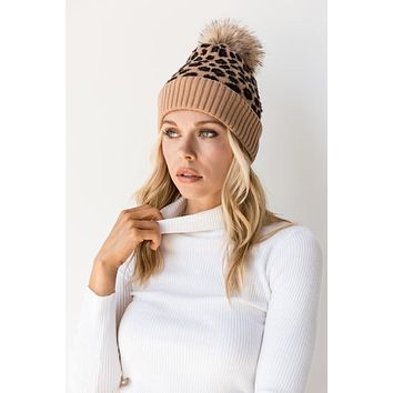 Cozy Embrace Beanie - Taupe