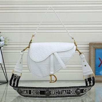 Dior hot style trendy wide shoulder strap classic single shoulder bag