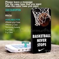 Basketball Never Stops - For iPhone 5 Black Case Cover