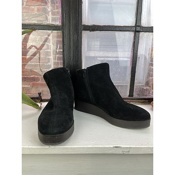 Lucky Brand Black Suede Ankle Boots (7.5)