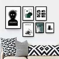 Classical Vintage retro posters phonograph Camera Sheet Music Wall Art Home Decoration Printed Oil Painting Pictures