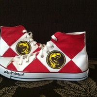 Power Rangers Shoes - Free Shipping Hand Painted Shoes from denimtrend