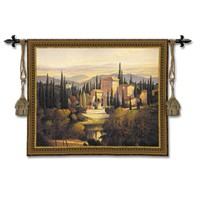 Pure Country Weavers 2879-WH Song Of Tuscany Woven Wall Tapestry