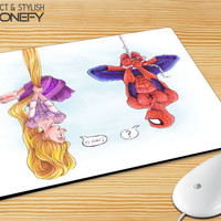 Disney Tangled And Spiderman Mousepad Mouse Pad iPhonefy