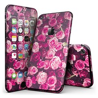 Vibrant Pink Vintage Rose Field - 4-Piece Skin Kit for the iPhone 7 or 7 Plus