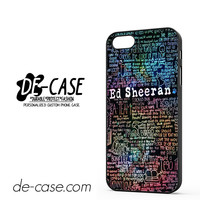 Ed Sheeran Quotes DEAL-3822 Apple Phonecase Cover For Iphone 5 / Iphone 5S