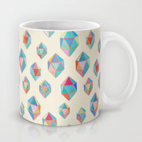 Floating Gems - a pattern of painted polygonal shapes Mug by Micklyn
