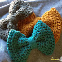 Chevrons and Anchors   Crochet Hair Bows   Online Store Powered by Storenvy