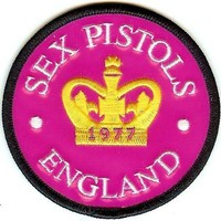Sex Pistols Iron-On Patch Crown England Logo