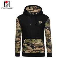 2017 New Fashion Hoodies Brand Men Camouflage Splicing Sweatshirt Male Men'S Sportswear Hoody Hip Hop utumn Winter Hoodie S-XXL0