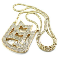 """ICED OUT MAYBACH MUSIC GROUP MMG PENDANT & 36"""" FRANCO CHAIN"""