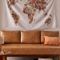 Botanical Floral Map Tapestry | Urban Outfitters