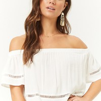 Ladder-Trim Off-The-Shoulder Top