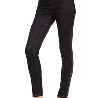 Butter Wax Coated Jegging - Black