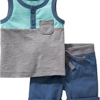 Old Navy Henley Tank & Shorts Sets For Baby