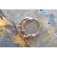 Crescent Moon Rose Gold Daith Hoop Ring Rook Hoop Cartilage Helix