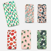 For Apple iphone 5 5S 6 6 Plus Case Fruit Summer Watermelon Cherry Fashion Soft Transparent TPU Case Cover for phone