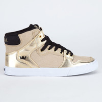 Supra Vaider Womens Shoes Gold/Black/White  In Sizes