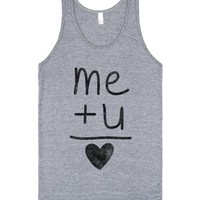 Me + You (tank)-Unisex Athletic Grey Tank