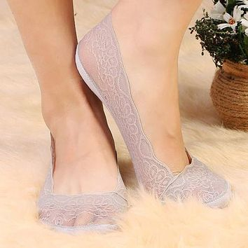 Antiskid Invisible Liner No Show Low Cut Socks