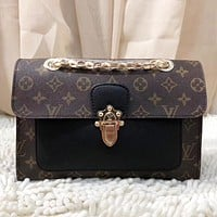 LV Fashion Women Shopping Leather Handbag Tote Crossbody Satchel Shoulder Bag Black I-MYJSY-BB