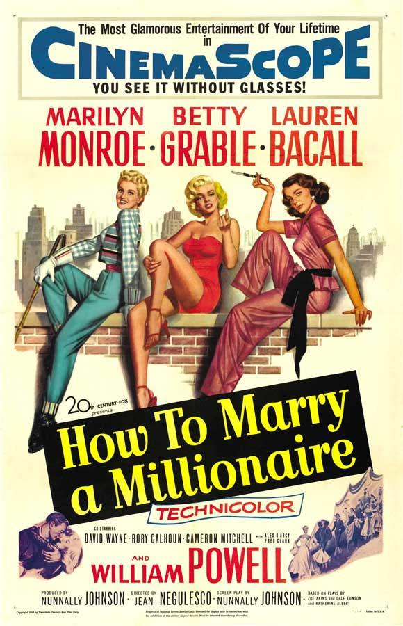 Image of How to Marry a Millionaire 11x17 Movie Poster (1953)