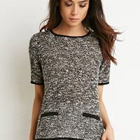 Marled Loose Knit Top