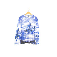 90s celestial all over print shirt - vintage 1990s  - vaporwave - digital art - long sleeve tee