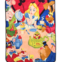 Disney Alice In Wonderland Tea Party Comfy Throw