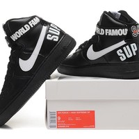 Originals Nike AIR FORCE One 1 HIGH SUPREME SP AF1 HI Running Sport Casual Shoes 698696-010 Sneakers