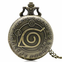 Retro Japanese Naruto Retro Japanese Fashion Pocket Watch