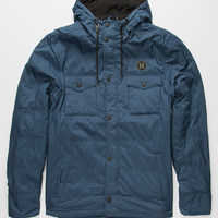 Hurley Offshore Parka Mens Jacket Blue  In Sizes