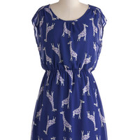 ModCloth Critters Mid-length Cap Sleeves A-line Ossicone and Only Dress