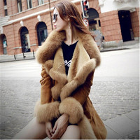 European Style Women Clothes Wool Fur Coat High-end Cashmere Coat Fashion Real Fur Coats For Women
