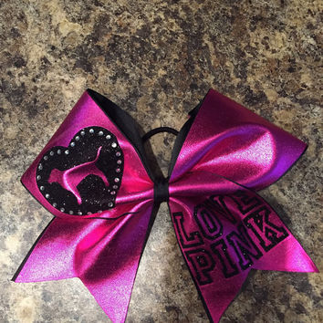 Love pink cheer bow!