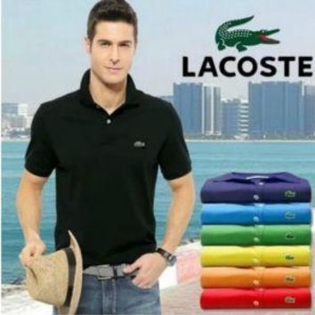 HOT LACOSTE MENS POLO T SHIRT 15 COLORS