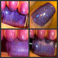 """Color Changing Thermal Nail Polish - """"ECHO"""" - Temperature Changing - Custom Blended Polish/Lacquer - 0.5 oz Full Sized Bottle"""