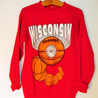 Vintage 1990's Wisconsin Badgers Basketball Sweatshirt