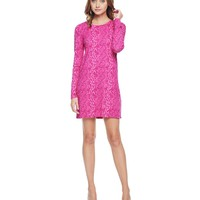 Starlet Combo Winter Python Jersey Shift Dress by Juicy Couture,