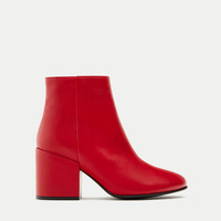 Chunky heel ankle boots - See all - Shoes - Woman - PULL&BEAR United Kingdom