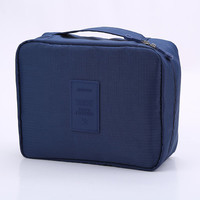 Navy Blue Outdoor Travel Camping Wash Cosmetic Bags