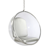 Hanging Bubble Chair Silver