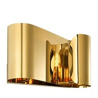 Curved Gold Wall Sconce | Eichholtz Crawley